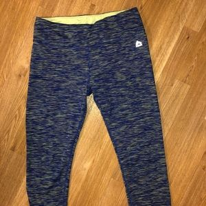 Blue and green athletic legging